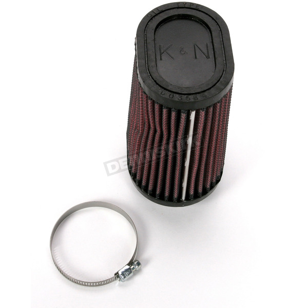 K & N Universal Oval Clamp-On Air Filter - 3 x 4 in. Diameter x 2 3/4 in. Length - RU-2750