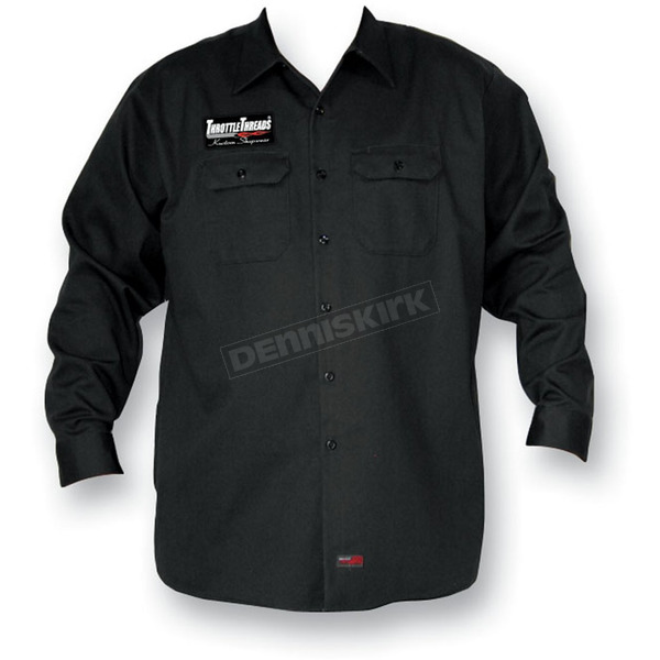 Throttle Threads Heavy Cotton Shop Shirt - TT46S70CH3R
