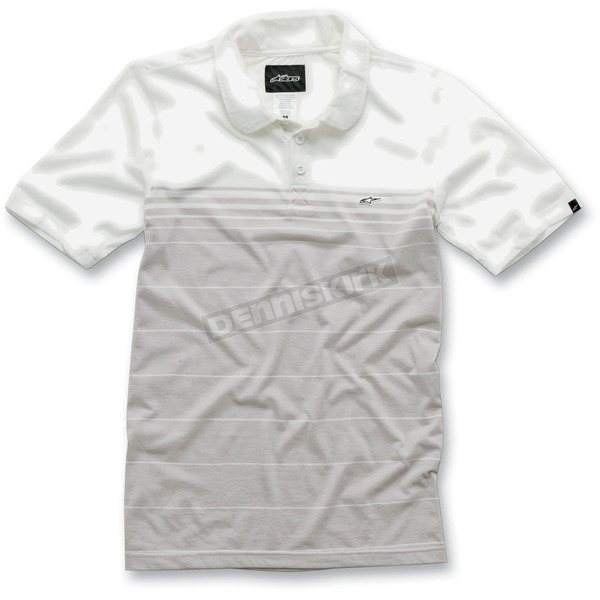 Alpinestars White Converge Polo Shirt - 101245003020M