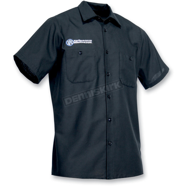 Throttle Threads Performance Machine Shop Shirt - PFM20S24BK3R