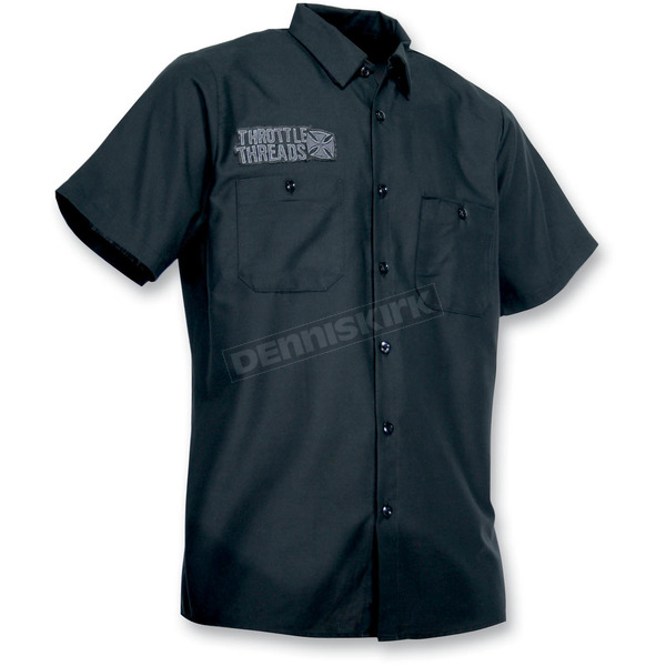 Throttle Threads Magnum 2 Shop Shirt - TT413S24BKSR