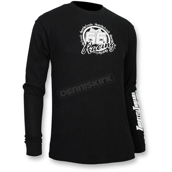 Throttle Threads Black Thermal Long Sleeve Shirt  - TT444T80BKLR