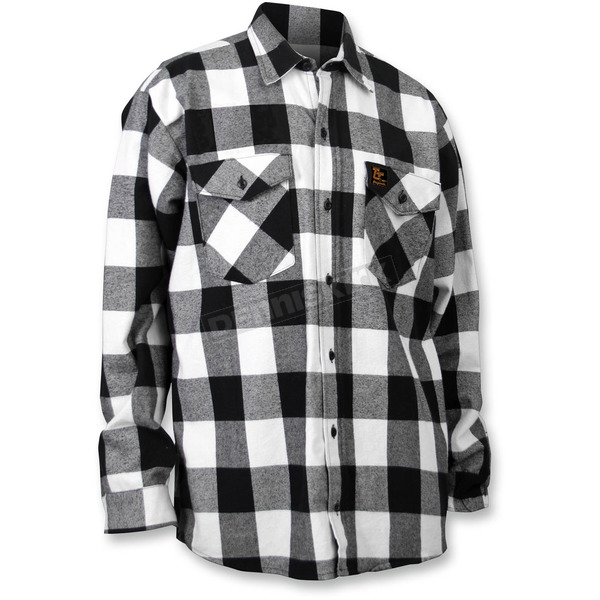 Throttle Threads Checkered Flannel Shirt - TT604F80BWLR