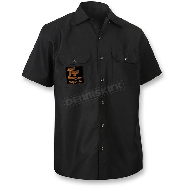 Throttle Threads Black Originals Shop Shirt - TT612S44BKMR