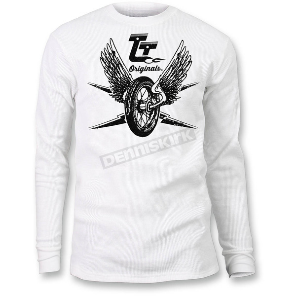 Throttle Threads White Thermal Thunder Shirt - TT617T94WHSR