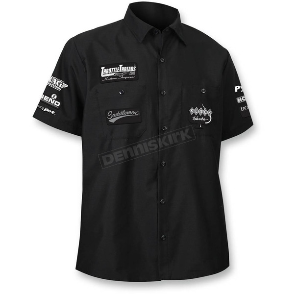 Throttle Threads Black Team Throttle Threads Shop Shirt - TT620S24BK3R