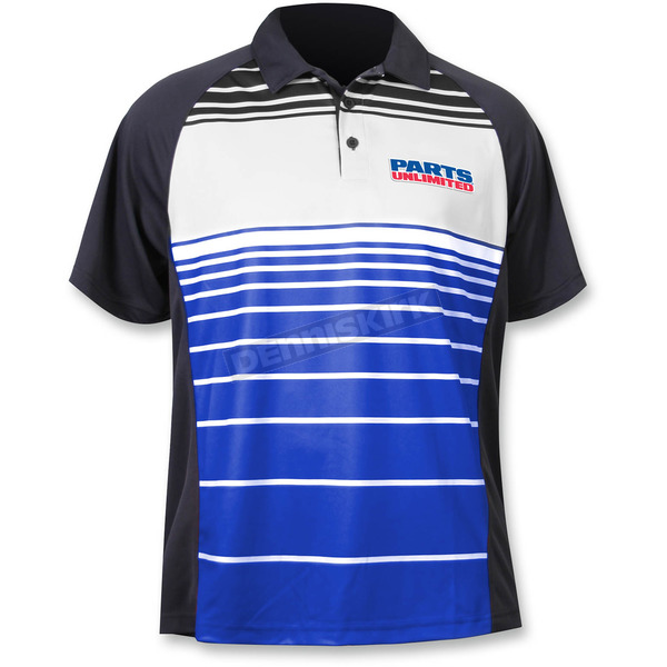 Throttle Threads Blue Parts Unlimited Polo Shirt - PSU26S61RB2R