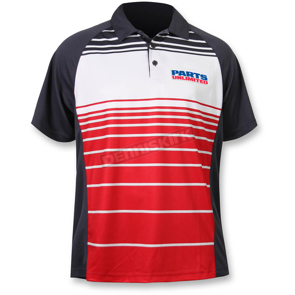 Throttle Threads Red Parts Unlimited Polo Shirt - PSU26S61RDSR