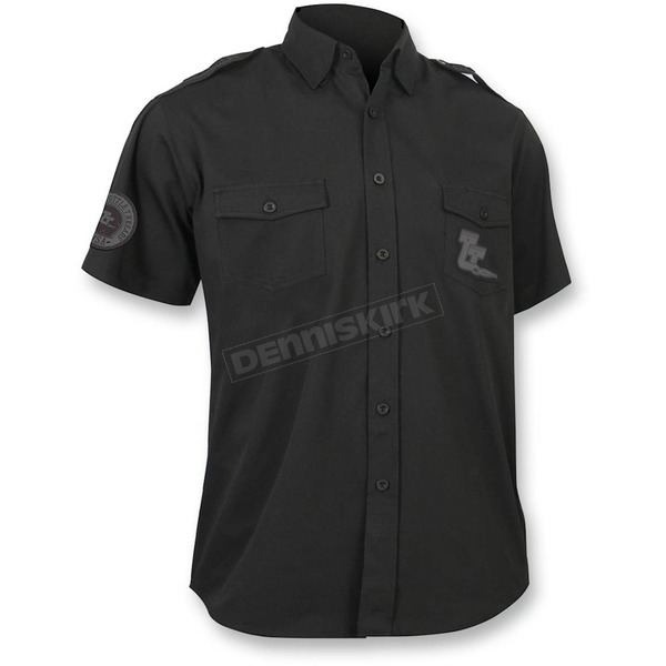 Throttle Threads Black Vintage Shop Shirt - TT624S79BK2R