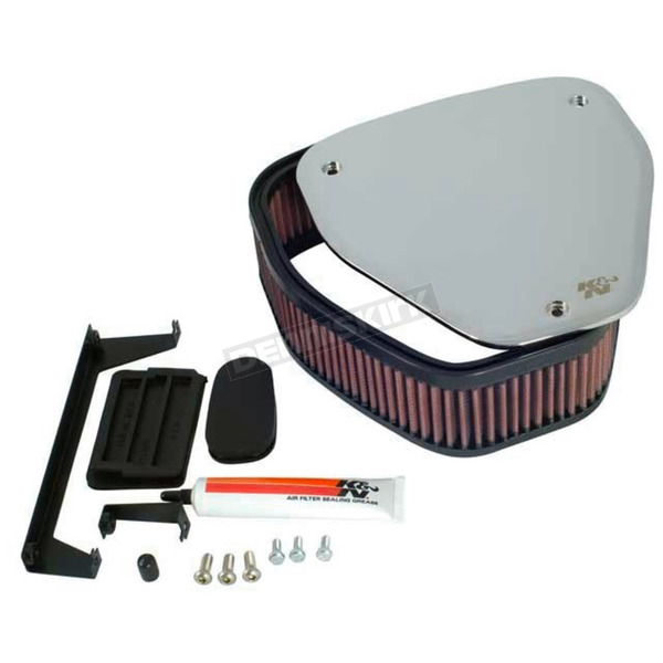 K & N Custom Mirror Air Filter Assembly - RK-3906