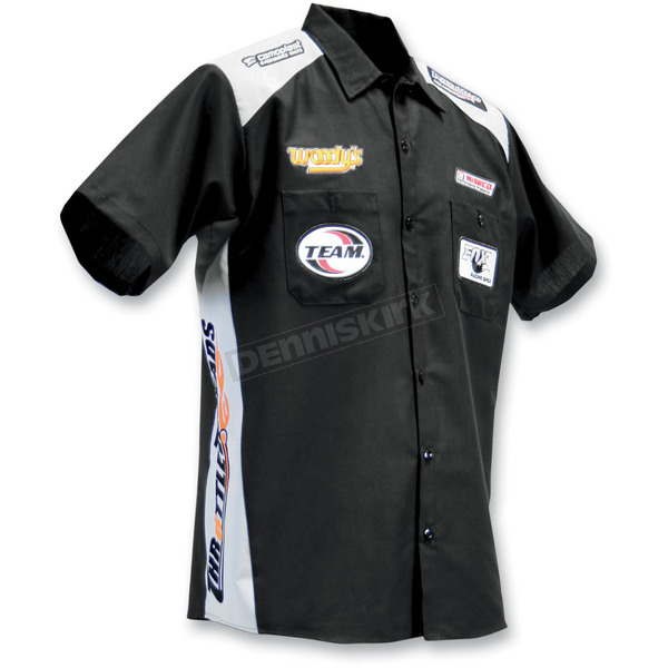 Throttle Threads Black Team Parts Unlimited Shop Shirt - PSU21S28BG4R