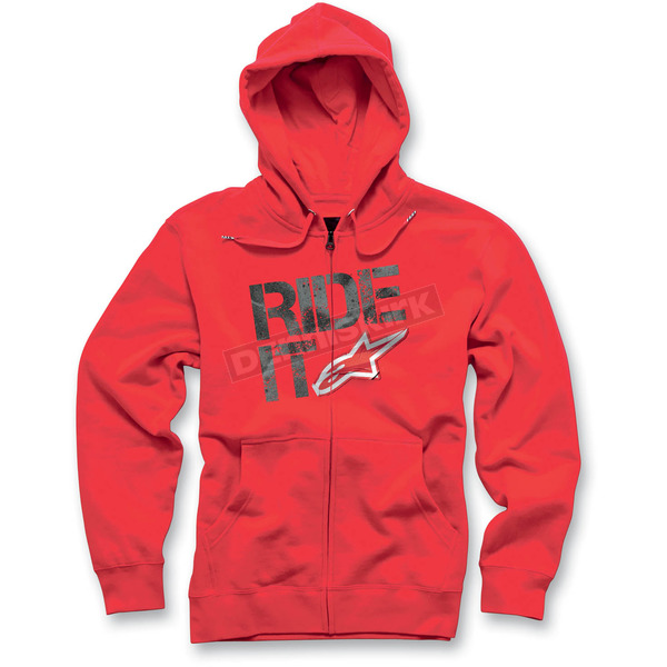 Alpinestars Red Ride It Hoody - 101253014030S