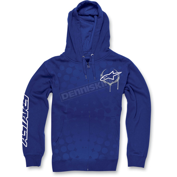 Alpinestars Blue Daredevil Zip Hoody - 1013-5308179L
