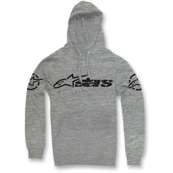 Alpinestars Heather Gray Recognized Pullover Hoody - 1013-52092111L