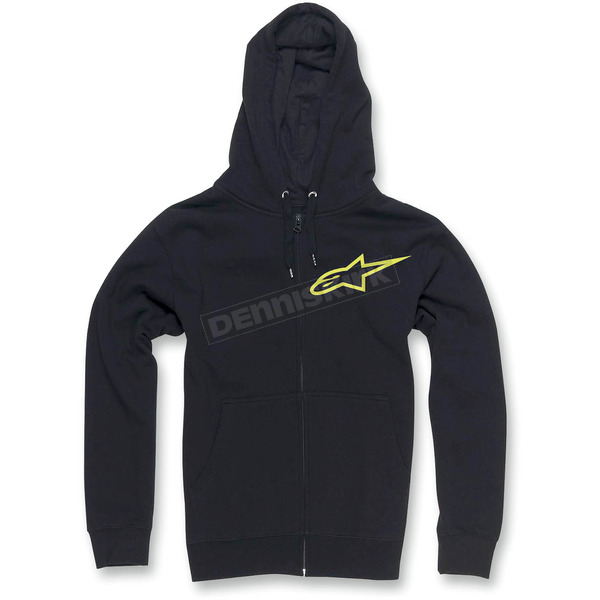 Alpinestars Black Ranking Zip Hoody - 10335300410AM