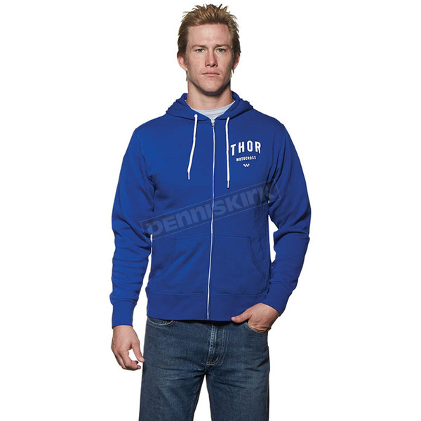 Thor Blue/White Shop Zip-Up Hoody - 3050-3143