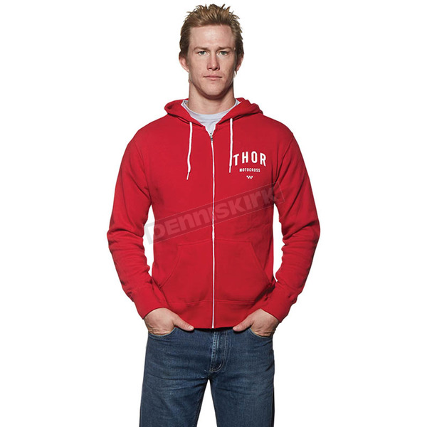 Thor Red/White Shop Zip-Up Hoody - 3050-3146
