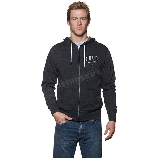 Thor Charcoal/Heather Shop Zip-Up Hoody - 3050-3151