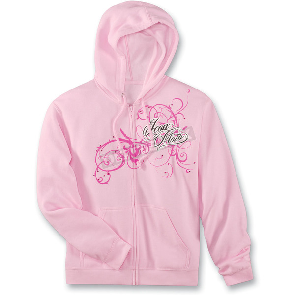 Icon Womens Pink Street Angel Zip-Up Hoody - 3051-0465
