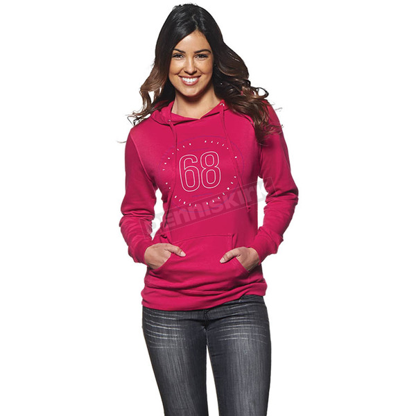 Thor Womens Pink Button Pullover Hoody - 3051-0888