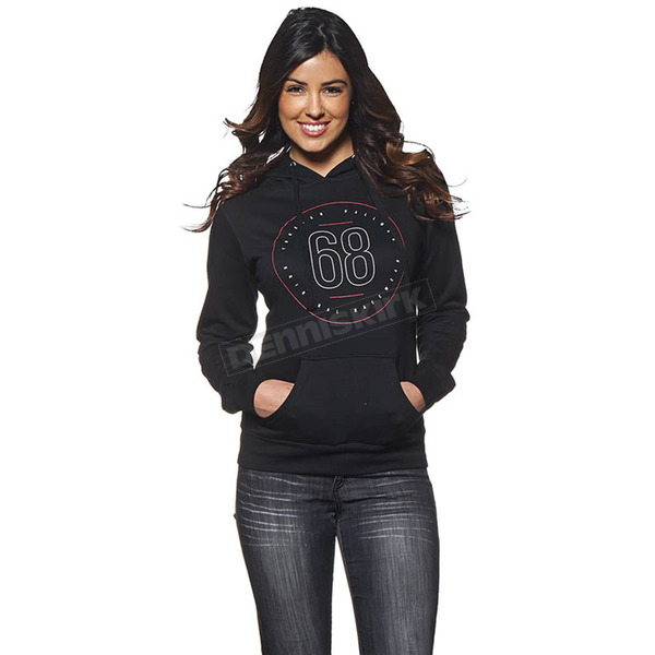 Thor Womens Black Button Pullover Hoody - 3051-0897