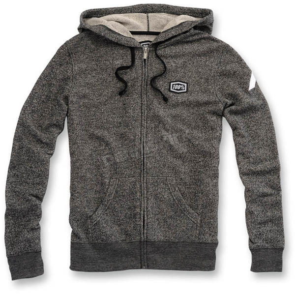 100% Womens Heather Gray Bryant Zip Hoody - 29001-190-13