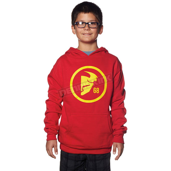 Thor Youth Red/Yellow Gasket Pullover Hoody - 3052-0339