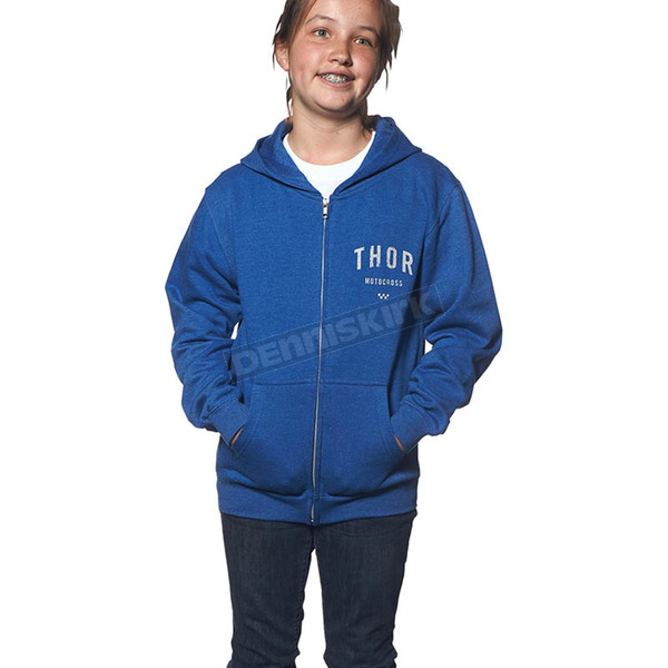 Thor Girls Blue Shop Zip-Up Hoody - 3052-0355