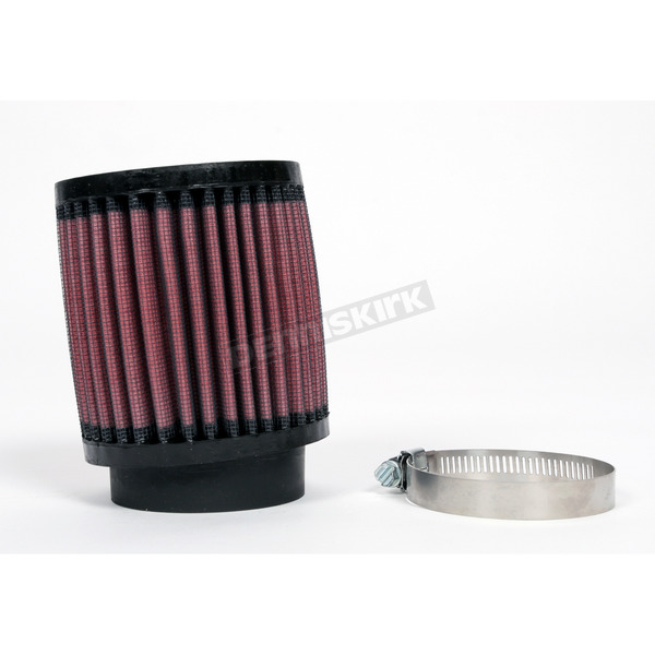 K & N Universal Round/Straight Clamp-On Air Filter - 3 1/2 in. Diameter x 4 in. Long - RB-0700