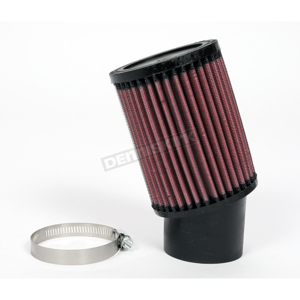 K & N Universal Round/Straight Clamp-On Air Filter - 3 3/4 in. Diameter x 5 in. Long - RU-1760
