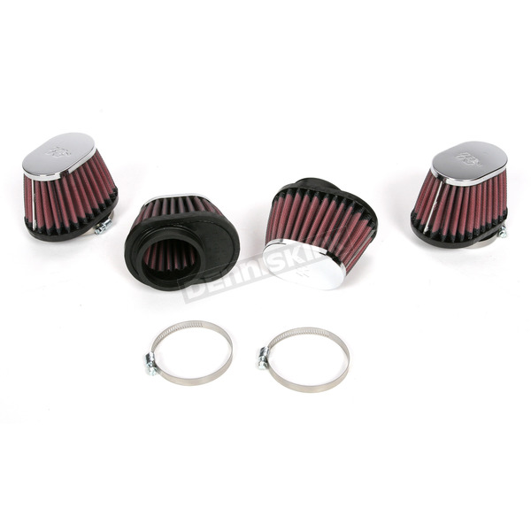 K & N Oval-Type Custom Clamp-On Air Filter Kit - RC-1824