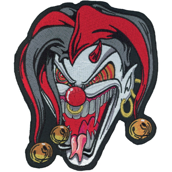 Lethal Threat Jester Face Embroidered Patch - LT30047