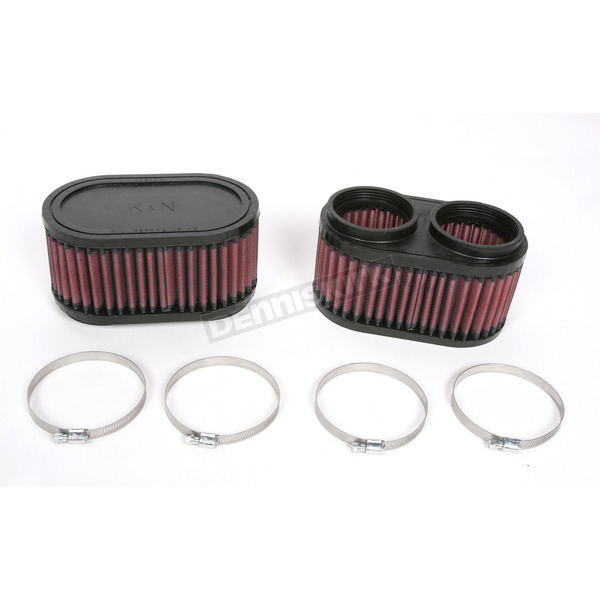 K & N Oval-Type Custom Clamp-On Air Filter Kit - RU-2922