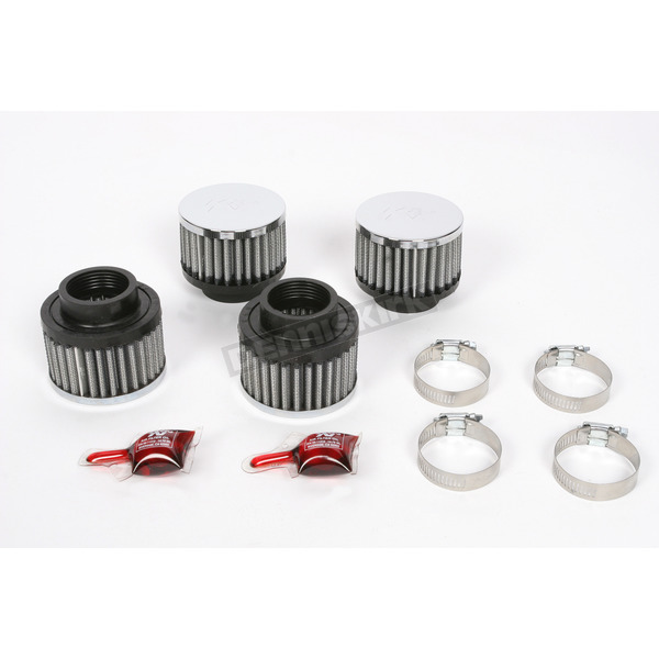 K & N Round/Straight-Type Custom Clamp-On Air Filter Kit - RC-0844