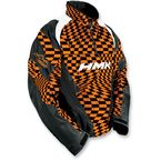 Orange Checker Throttle Pullover Jacket - HM7JTHROCXL