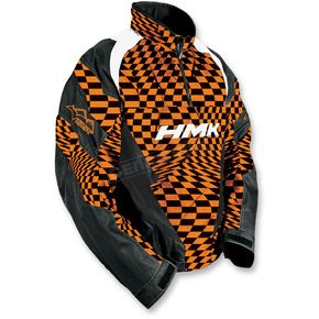 HMK Orange Checker Throttle Pullover Jacket  - HM7JTHROCL