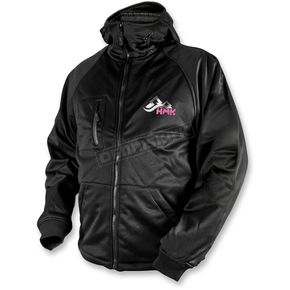 HMK Womens Black/Pink Hooded Tech Shell - HM7HTSPS