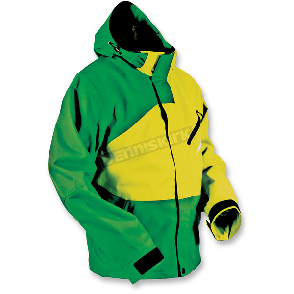 HMK Green/Yellow Hustler 2 Jacket  - HM7JHUS2GYS
