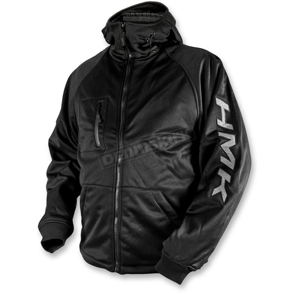 HMK Black/Tonal Hooded Tech Shell - HM7HTSBXS
