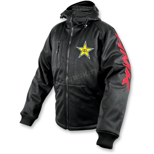 HMK Rockstar/Black Hooded Tech Shell - HM7HTSRB2X