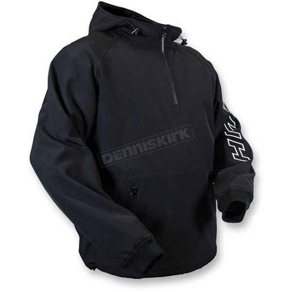 HMK Black Hooded Tech Pullover - HM7HTPBSM
