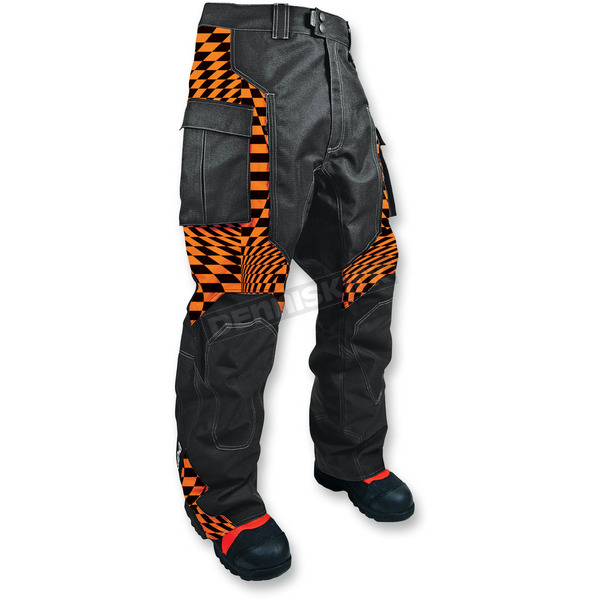 HMK Orange Checker Throttle Pant - HM7PTHROCS