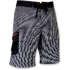 Slippery Black Solar Boardshorts - 32300118