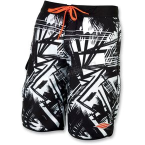 Slippery Black Splice Neo Boardshorts - 32300145