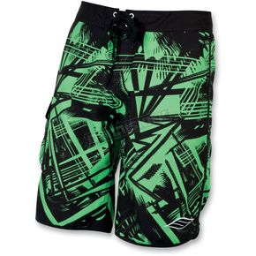 Slippery Green Splice Neo Boardshorts - 32300163