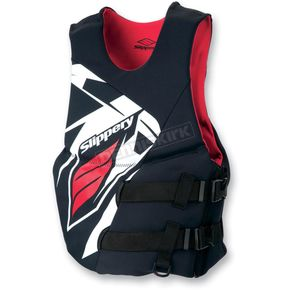 Slippery Black/Red Rev Side Entry Vest - 32400536