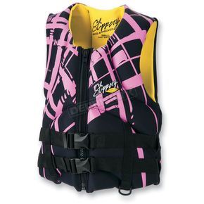 Slippery Pink/Black Womens Electra Vest - 32410098