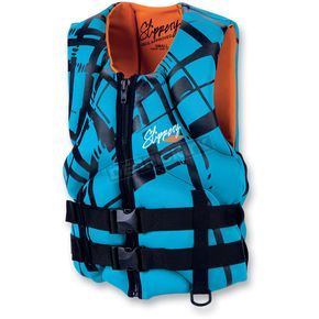 Slippery Black/Turquoise Womens Electra Vest - 32410102