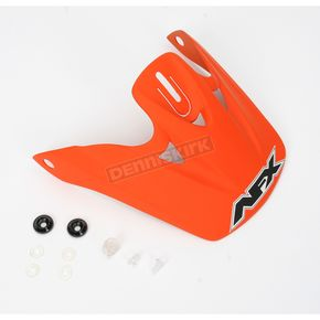AFX Orange Rubber Visor for AFX Helmets - 01320079