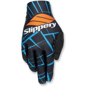Slippery Black/Blue Flex Lite Gloves - 32600271